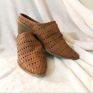 Universal thread | Woven heeled mules